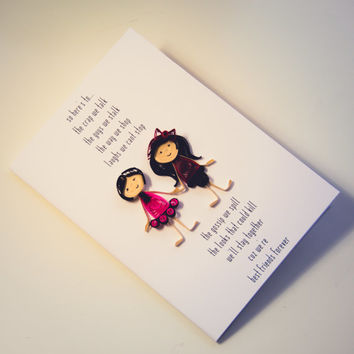 Friendship Card - Best Friend Card - Cheers to Friendship Card - Customizable Friendship Card
