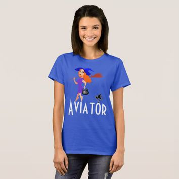Aviator funny dark customizable T-Shirt