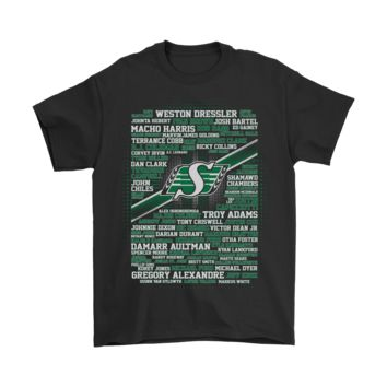 AUGUAU CFL Football All Players Team Saskatchewan Roughriders Shirts