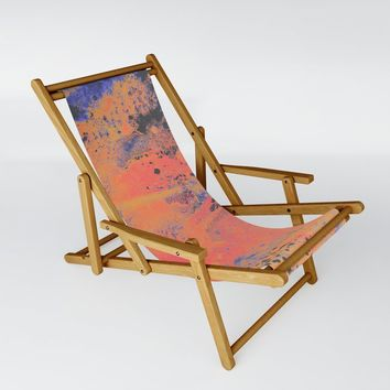 Disarm you with a smile Sling Chair by duckyb
