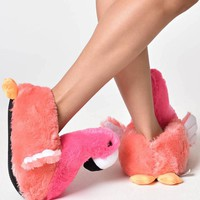 Cozy Adult Flamingo Slippers - PRE-ORDER, SHIPS in AUGUST