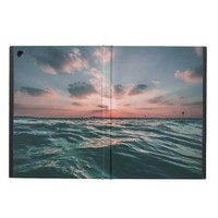 Pink Sunset and Blue Ocean Horizon iPad Air Cover