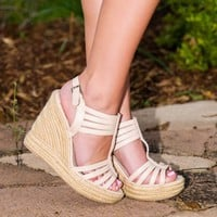 A Sip Of Summer Wedge-Nude - NEW ARRIVALS