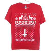 Merry 666-Mas Anti-christmas T-shirt (ATTN: notate SIZE during checkout)