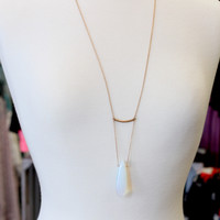 On Point Pendant Necklace {Gold}