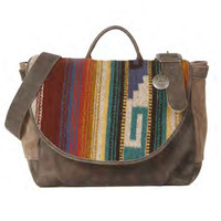 Will Leather Goods Postal Bag Oaxacan in Grey