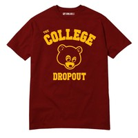 College Dropout T-Shirt Kanye West Bound Yeezy Yeezus GOOD Music BAPE HIP HOP