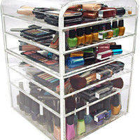 Clear Acrylic Makeup Organizer w/ Drawers 7 | eDiva