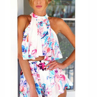 Afternoon Delight Two-Piece Floral Romper | A Handmade Hustle