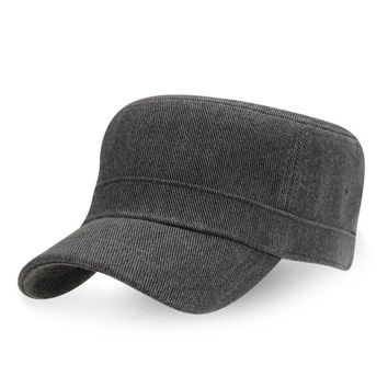 Mens Simple Stylish Cotton Flat Roof Trucker Hats Outdoor Casual Visor Baseball Caps