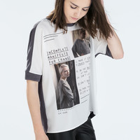 Low back printed t-shirt