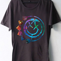 High Quality DTG Printed shirt blink 182 logo galaxy nebula,Funny shirt Mens and Woman Size Available by BosBandungan