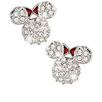 Minnie Mouse Icon Earrings by Arribas - Domed | Disney Store