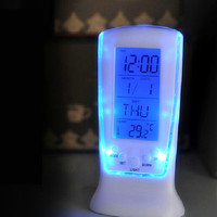 Digital LED Calendar Thermometer Backlight Multi-function Music Alarm Clock