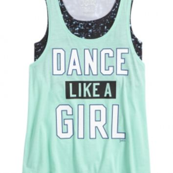 DANCE 2 IN 1 TANK | GIRLS DANCEWEAR & GYMNASTICS ACTIVEWEAR | SHOP JUSTICE
