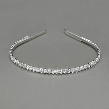 Thin Rhinestone Headband - David's Bridal - mobile