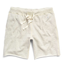 Cut Off Gym Shorts in Vintage White Mix