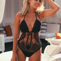 EXCLUSIVE FOR NIC DEL MAR CROCHET MONOKINI