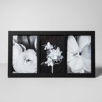 """Thin Frame Holds 3 Photos Black 4""""x6"""" - Made By Design™"""