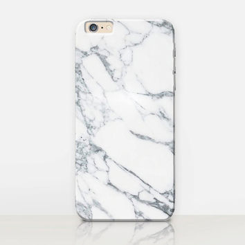 White Marble Phone Case For-iPhone 6 Case - iPhone 5 Case - iPhone 4 Case - Samsung S4 Case - iPhone 5C - Tough Case - Matte Case - Samsung