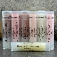 Set of 5 Flavored Lip Balms  You Choose Your by AlaiynaBSoaps