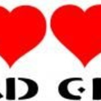 Tattoo Stencil - Bad Girl and Hearts - #175