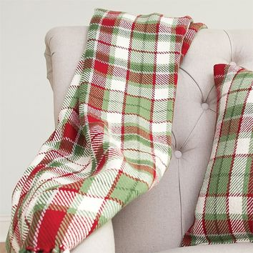 OWEN PLAID THROW BLANKET AND PILLOW