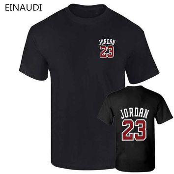 Brand Clothing 23 jordan t shirt Swag T-Shirt Cotton Men Tshirt Homme Fitness Camiseta