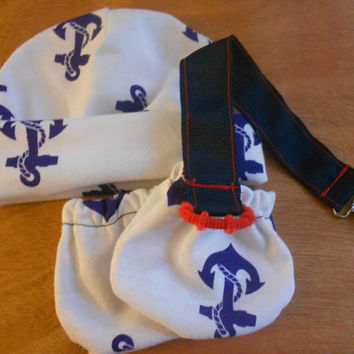 Newborn beanie/ mittens set, going home outfit, recieving hat
