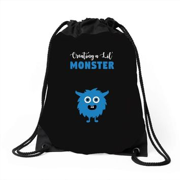 Creating A Lil Monster Baby Boy Drawstring Bags