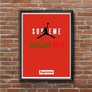 JORDAN SUPREME RED Photo Poster 16x20 18x24