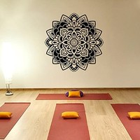 Mantra Om Yoga Mandala Wall Decal Vinyl Sticker Wall Decor Home Interior Design Art z373