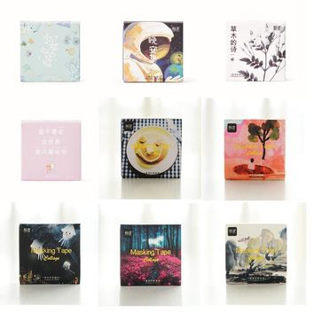 45Pcs/Pack Masking Tape Collage DIY Decorative Dairy Sticker Stationery Office School Sticky Label 4CM Wash Stickers Gift M0158