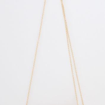 Gold Twig Necklace