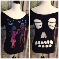 Nightmare Before Christmas Skull Back by PirateGirlDesigns on Etsy