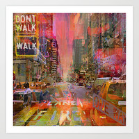 traffic jam pink Art Print by Ganech Joe