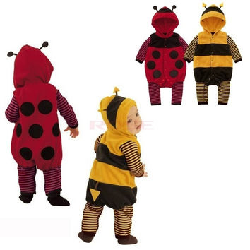 Romper 3-24m Baby Fleece Cartoon Cosplay Ladybird Bee Costume Fancy Dress 9485 = 1745480004