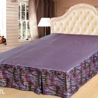 Tache Mixed Purple Bed Skirt