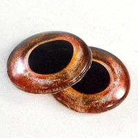 Pair of Red Bass Fish Eyes 30mm Glass Eye for Taxidermy Sculptures or Jewelry Making Pendants Crafts Art Doll Wire Wrapping DIY Flatback Cabochon
