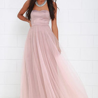 Dance of Dalliance Mauve Maxi Dress