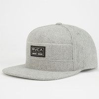 Rvca Post All Mens Snapback Hat Light Grey One Size For Men 24478413101
