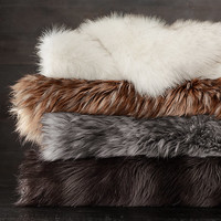 Exotic Faux Fur Blanket - Russian Black Mink
