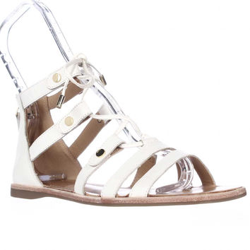 Franco Sarto Baxter Lace Up Gladiator Sandals - White