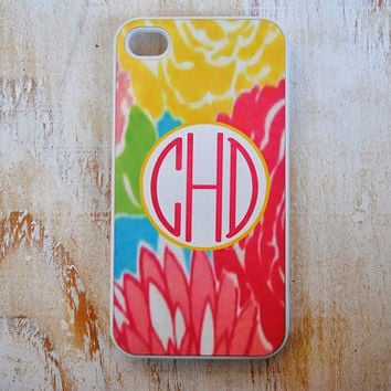 Personalized iPhone or Samsung Galaxy S3 Case, iPhone 4, iPhone 4S, iPhone 5, Samsung Galaxy S3, Lilly Pulitzer Inspired Phone Case, LP2