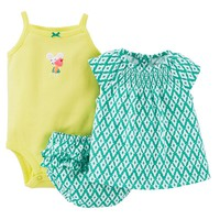Carter's Geometric Smock Top Set - Baby Girl, Size: