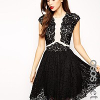 ASOS Petite | ASOS PETITE Premium Prom Dress With Lace Applique at ASOS