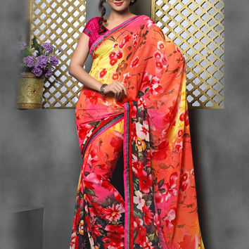 Stunning Silk Saree with Exotic Colors and Precise Lacework