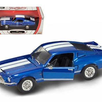 1968 Shelby Mustang GT 500KR Blue 1-18 Diecast Model Car by Road Signature
