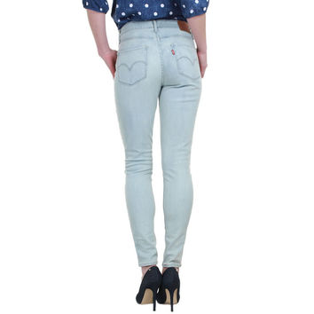 Levi's 721 0009 Womens Light Blue Wash Slim Skinny Jean Size 10 / 30 X 32
