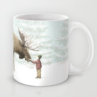 Winter Moose Mug by Eric Fan